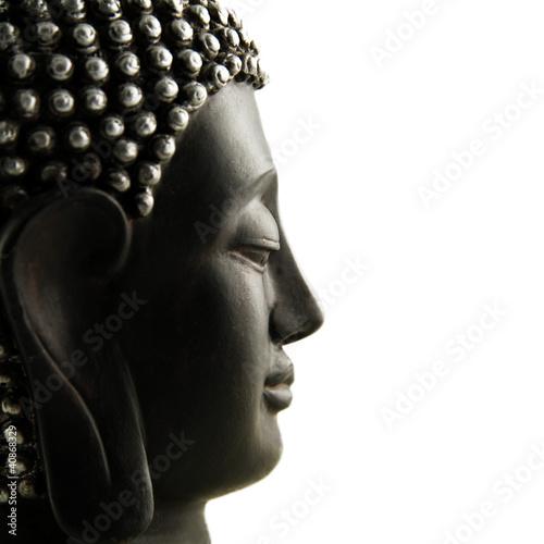 Papiers peints Statue Buddha Profil isoliert