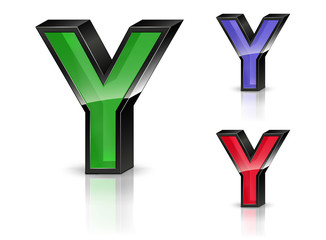 Y - 3D Letters