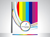 abstract colorful wave flayer