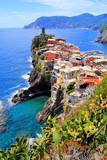 View of the village of Vernazza, Cinque Terre, Italy