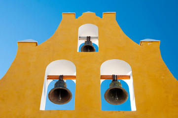 Typical belfry in Campeche (Mexico)