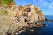 Village of Manarola on the coast of Italy