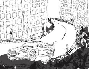 Auto Skizze Vektor