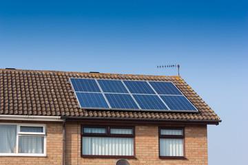 Solar-Panel on House.