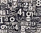 old metal numbers