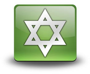 "Green 3D Effect Icon ""Star Of David"""