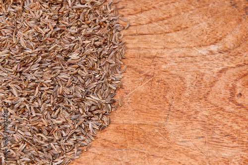 Caraway on wood