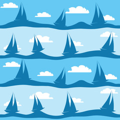 seamless pattern with ships