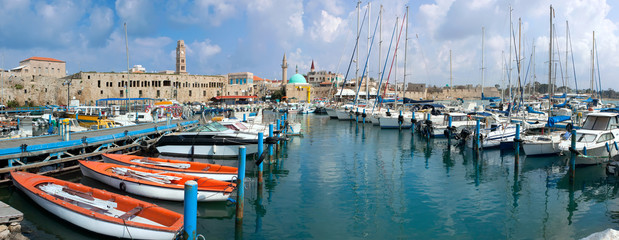 Port of Acre.  Israel.  Panorama
