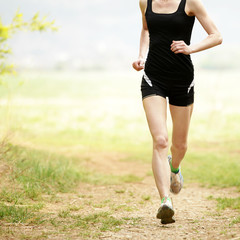 Female runner in nature