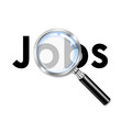 Icono lupa 3D con texto Jobs