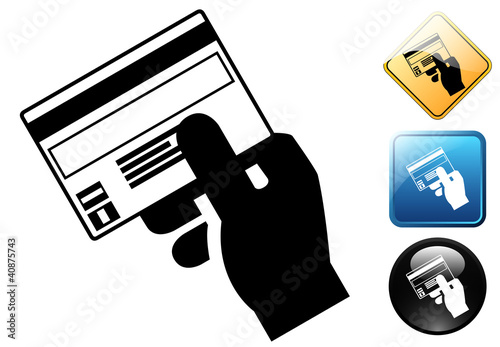 Credit card payment pictogram and icons