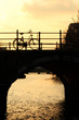 Bicycle Silhouette at Sundown on an Amsterdam Canal
