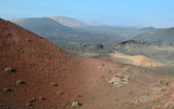 Arid landscape - view from volcano hill poster