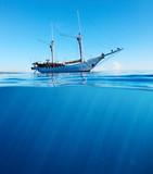 Sail boat in sea