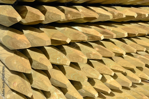 Impregnated wood dowels in stock