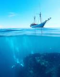 Divers on a shipwreck