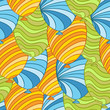 Seamless pattern of hand drawn balloons, vector.