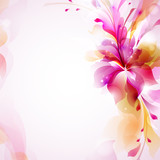 Fototapety Tender background with abstract flower