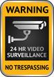 Cctv video surveillance label