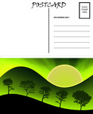 Empty Blank Postcard Template Nature Image