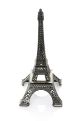 Eiffel tower model isolated, clipping path included