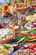Leinwandbild Motiv traditional ukrainian food in assortment