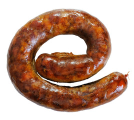 grilled sausage - humorous image of Internet Explorer symbol