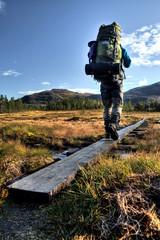 auf Trekkingtour