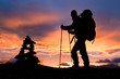 Trekking for atemberaubendem Horizont