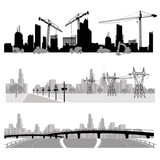 Vector illustration.City skyline.silhouette
