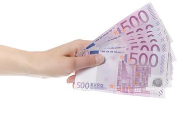 Geldscheine in der Hand