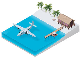 Vector isometric tropical resort