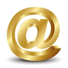 3d altın internet ikonu