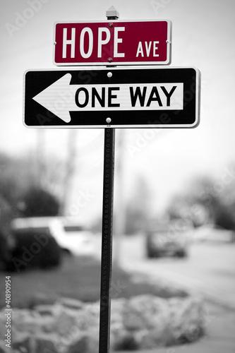 Hope Traffic Sign