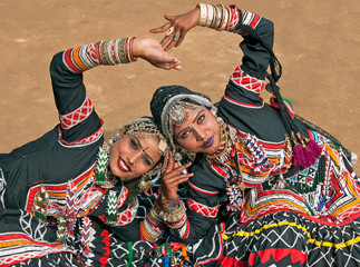 Tribal Dancers from Rajasthan in India