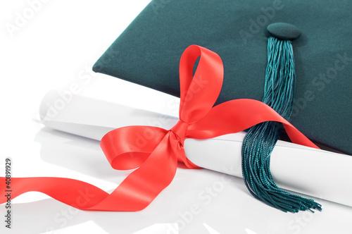 Graduation Cap & Scroll