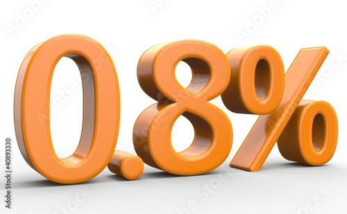 0.8 % 3d Schrift orange