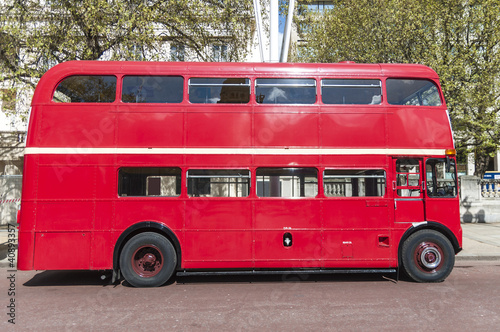 Deurstickers Londen rode bus London famous red buses