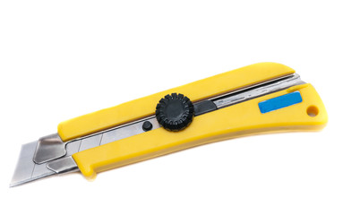 yellow stationery knife