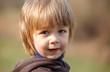 portrait little boy outdoor
