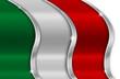 Italy Metal Flag