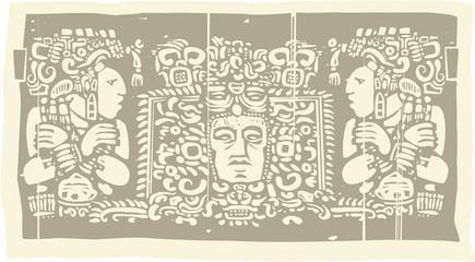 Maya Triptych Woodblock C