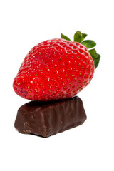 strawberry and  choco candy