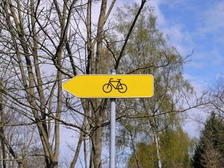 Radweg Verkehrsschild