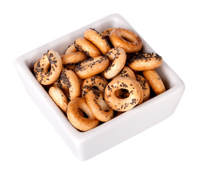 Barankas (bagel, boublik, donut) isolated on a white background.