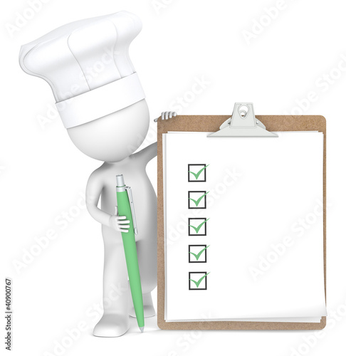 Recipe.Chef with a List for shopping, recipes or menus.