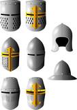 medieval helmet poster