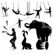 Vector illustration.Circus silhouettes - 40901197