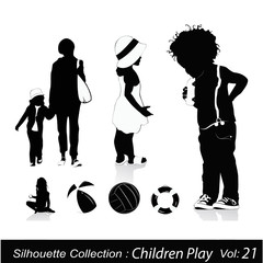 Children and Childhood silhouettes